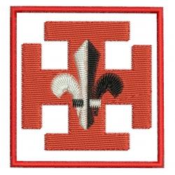 Croix scout SUF motif broderie machine