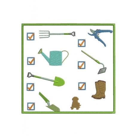 Check liste jardinier appliqué