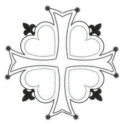 Croix Huguenote motif broderie machine