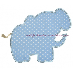 Silhouette Eléphant en appliqué