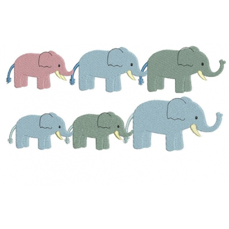 Elephants en ribambelle