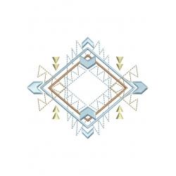 motif broderie machine aztèque