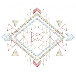 motif broderie machine aztèque Laine