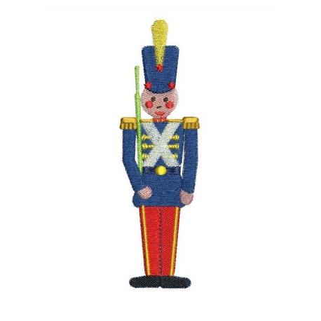 Soldat de plomb motif broderie machine