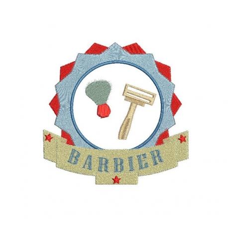 Barbier dans cadre rond