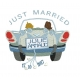 Just Married voiture mariae motif broderie machine