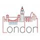 Skyline LONDON en redwork