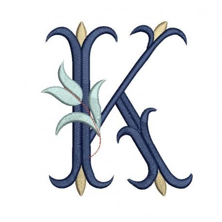K alphabet Tulipe