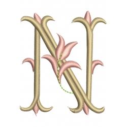 Lettre N Alphabet Tulipe