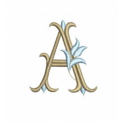 Lettre A alphabet Tulipe