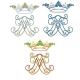 Monogramme et couronne