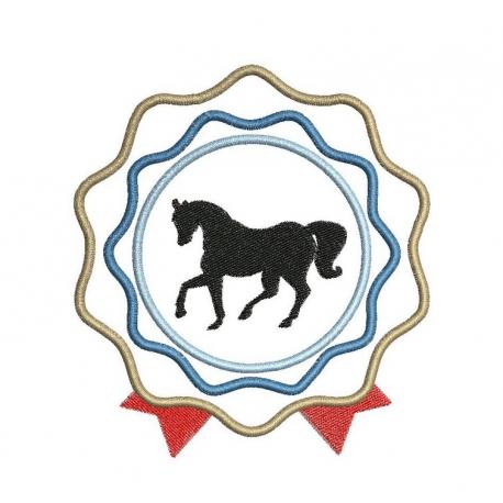 Appliqué cocarde et cheval