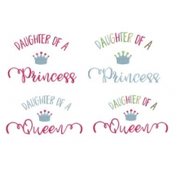 Pack 2 motifs Princess et Queen