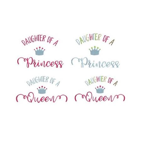 Pack 2 motifs Princess et Queen