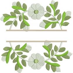 Couronne de fleurs split