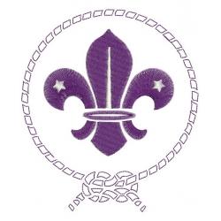 Insigne Scouts de France motif broderie machine