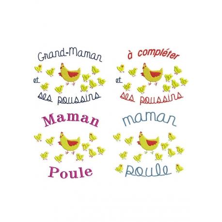 pack motifs Poule