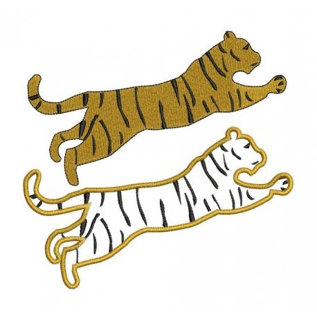 motif broderie machine tigre