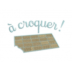 Appliqué Tablette de chocolat
