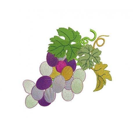 Grappe de raisin et 3 feuilles