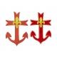 ancre scout marin broderie machine ou appliqué