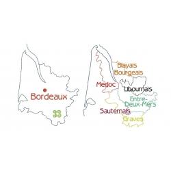 Carte de la Gironde et ses vignobles