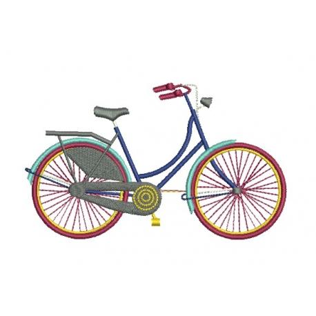 motif broderie machine vélo style hollandais