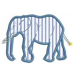Motif broderie machine éléphant appliqué