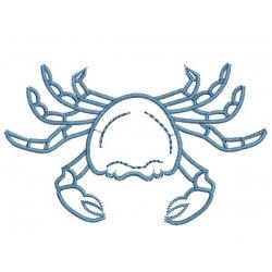 motif broderie machine crabe en contour