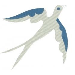 Motif broderie machine : hirondelle en silhouette