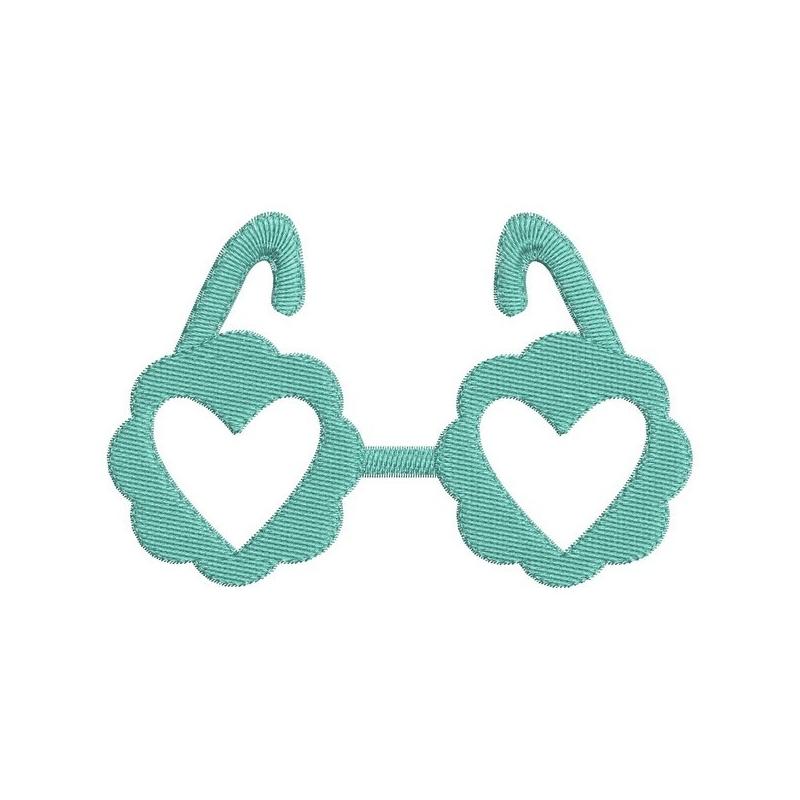 Achat motif de broderie machine paire de lunette en appliqué