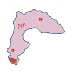 motif broderie machine carte de l'île d'Aix
