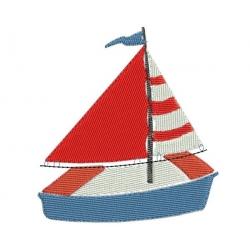 Pmotif broderie machine petit voilier