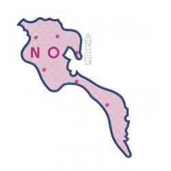 motif broderie machine Carte de l'île de Noirmoutier en appliqué