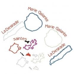 Carte des  îles des Caraïbes