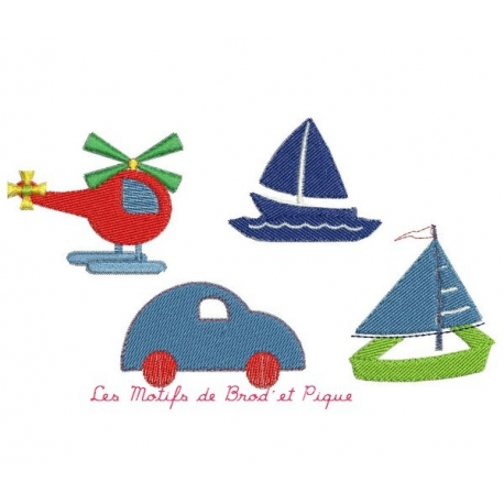 motif broderie machine mini motifs de transports