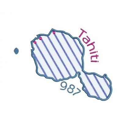 Carte de l'île de Tahiti