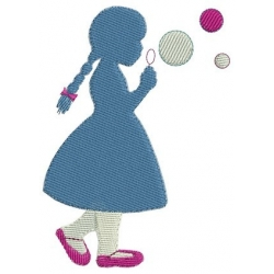 Petite fille aux bulles