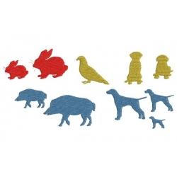 Labrador, lièvre, chien de chasse, pigeon