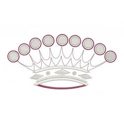 Motif broderie machine : couronne de comte grand format pour cadre 20cm
