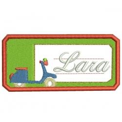 Badge à thermocoller étiquette pour l'école motif scooter