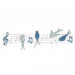 Notes de musique et hirondelles