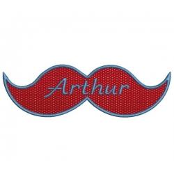 Moustache géante broderie machine pour grand cadre