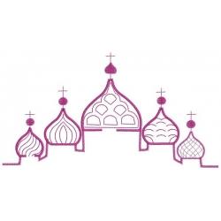motif broderie machine Eglise russe à bulbes