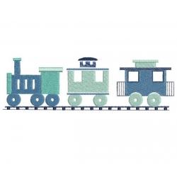 Locomotive et 2 wagons
