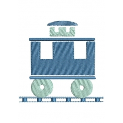 petit wagon broderie machine en ombre chinoise