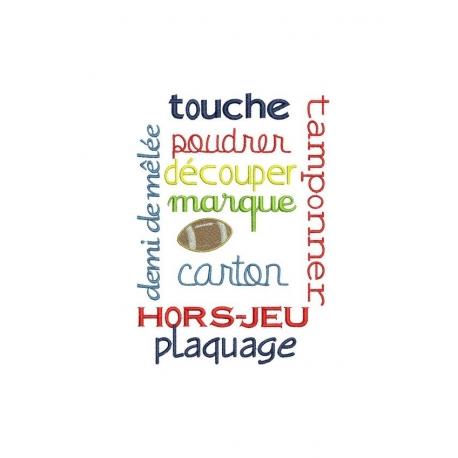 Phrases spécial rugby pour cadre 13x18