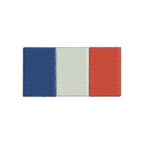 motif broderie machine drapeau français