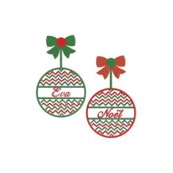 boules de Noël borderie machine